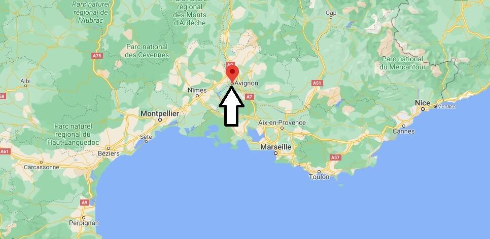 Où se situe Avignon (Code postal 84000)