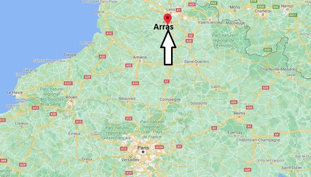 Où se situe Béthune (Code postal 62041)