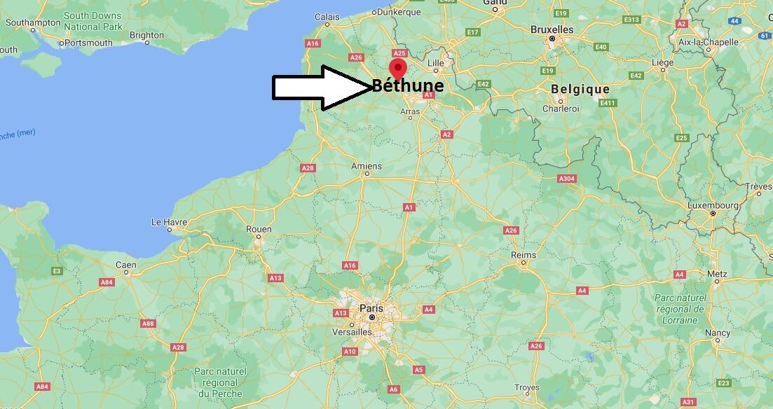 Où se situe Béthune (Code postal 62119)