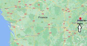 Où se situe Évian-les-Bains (Code postal 74119)