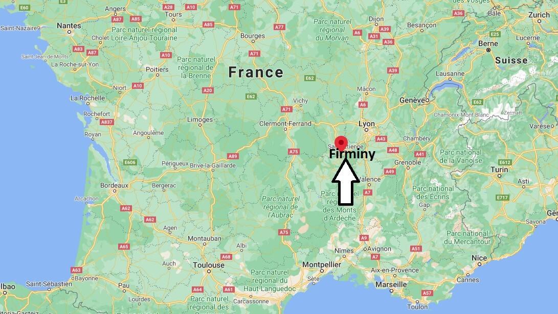 Où se situe Firminy (Code postal 42095)