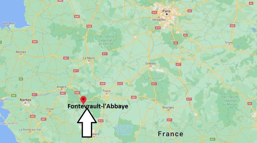 Où se situe Fontevrault-lAbbaye (Code postal 49140)