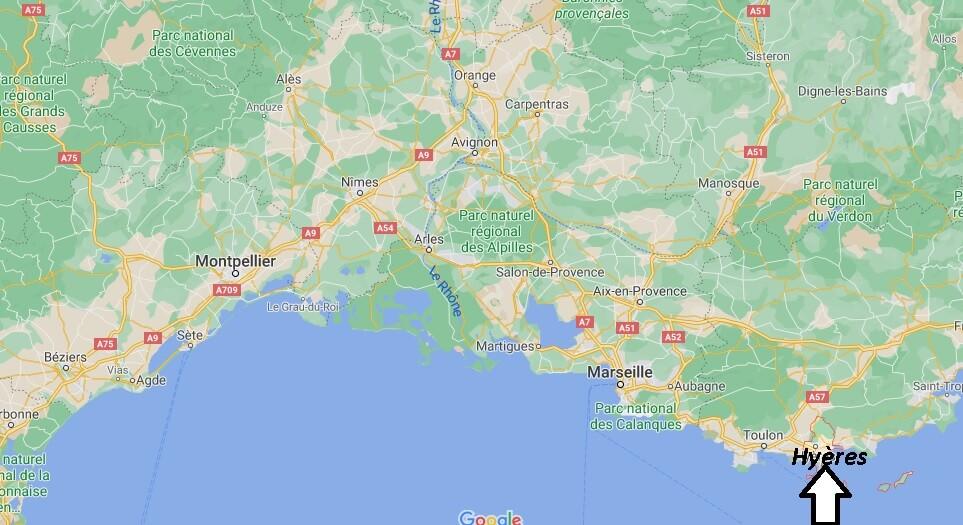 Où se situe Hyères (Code postal 83069)