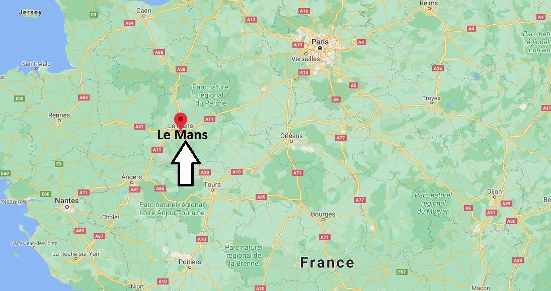 Où se situe Le Mans (Code postal 72181)
