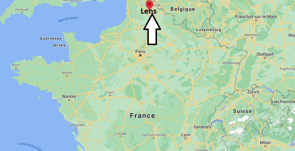 Où se situe Lens (Code postal 62500)