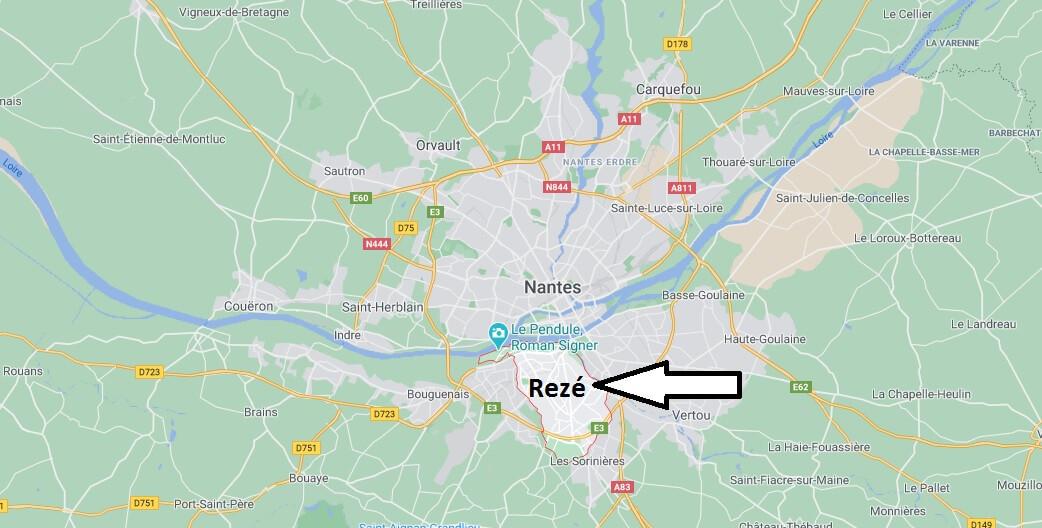 Où se situe Rezé (Code postal 44143)