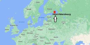 Où se situe Saint-Pétersbourg