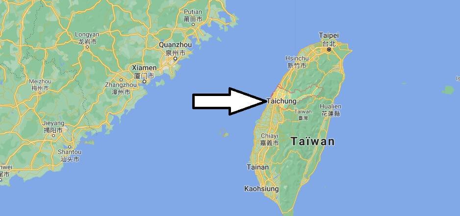 Où se situe Taichung