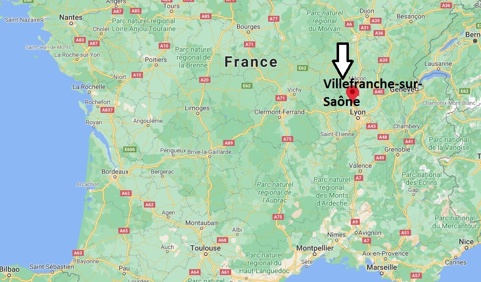 Où se situe Villefranche-sur-Saône (Code postal 69264)