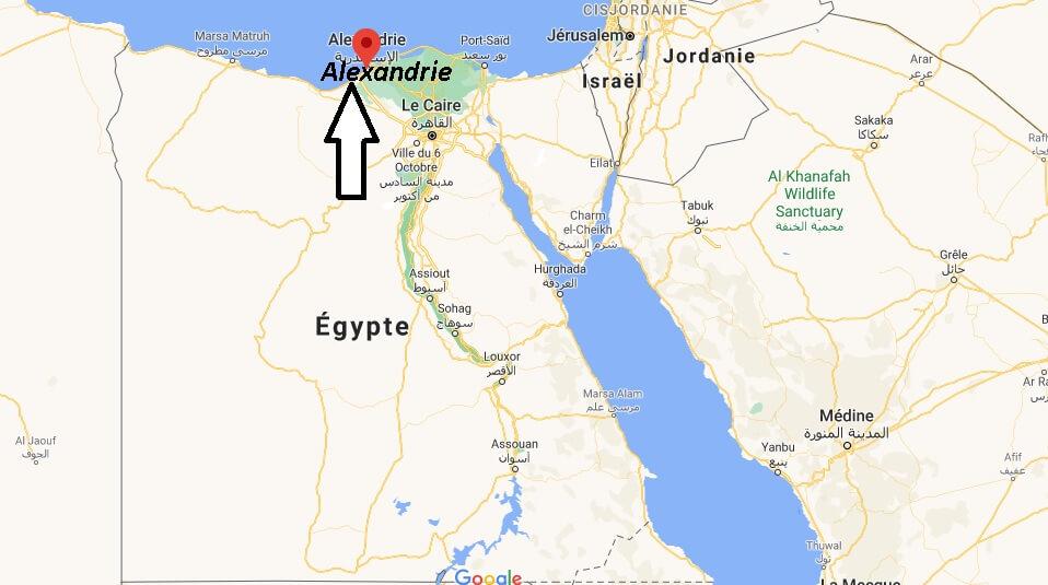 Où se trouve Alexandrie sur la carte du monde