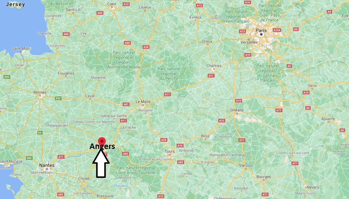 Où se trouve Angers