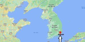 Où se trouve Busan sur la carte du monde