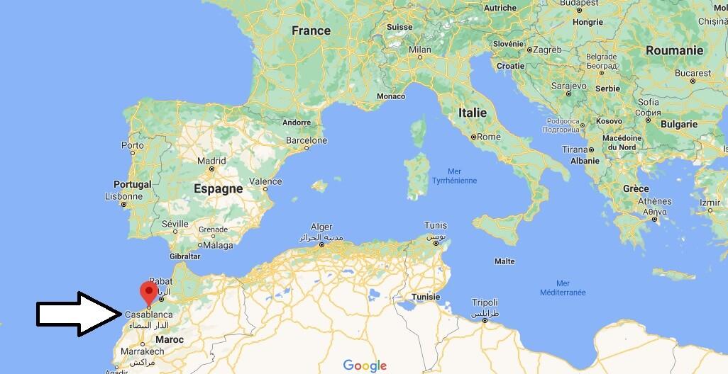 Où se trouve Casablanca sur la carte du monde
