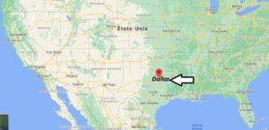 Où se trouve Dallas sur la carte du monde