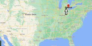 Où se trouve Detroit sur la carte du monde