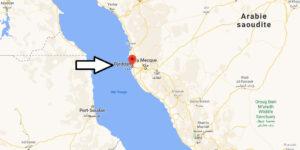 Où se trouve Djeddah sur la carte du monde