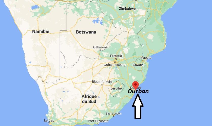 Où se trouve Durban sur la carte du monde