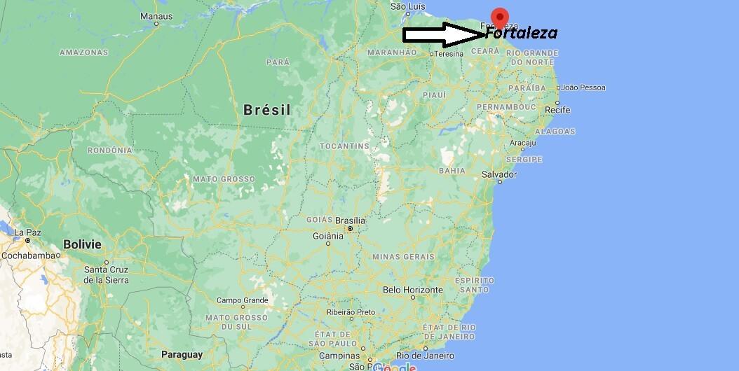 Où se trouve Fortaleza sur la carte du monde