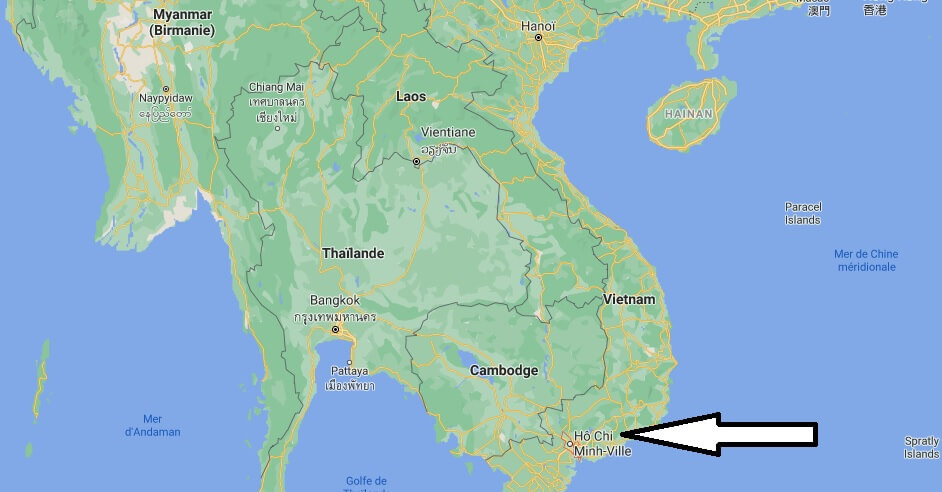 Où se trouve Hô Chi Minh-Ville sur la carte du monde