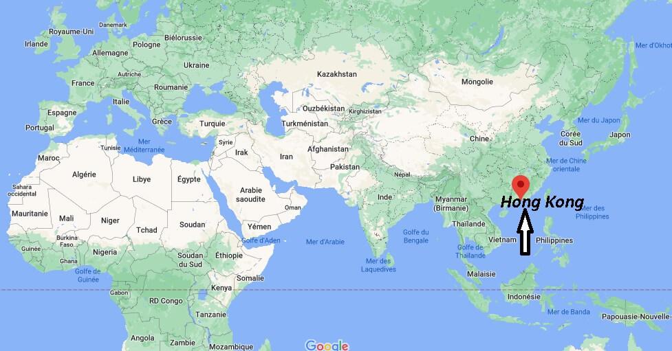 Où se trouve Hong Kong sur la carte du monde