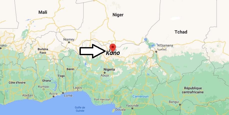 Où se trouve Kano sur la carte du monde