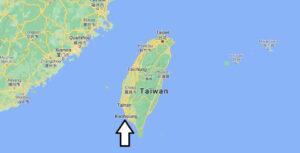 Où se trouve Kaohsiung sur la carte du monde