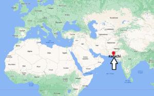Où se trouve Karachi sur la carte du monde