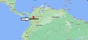Où se trouve Medellin sur la carte du monde