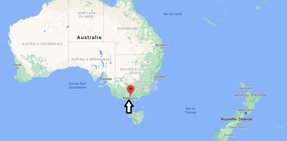 Où se trouve Melbourne sur la carte du monde
