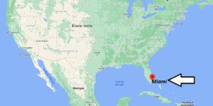Où se trouve Miami sur la carte du monde
