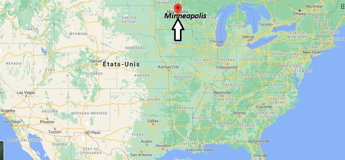 Où se trouve Minneapolis sur la carte du monde