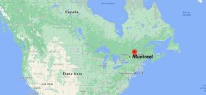 Où se trouve Montreal sur la carte du monde