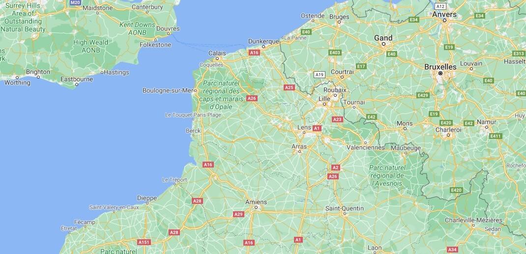 Où se trouve Nord–Pas-de-Calais