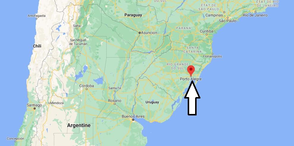 Où se trouve Porto Alegre sur la carte du monde