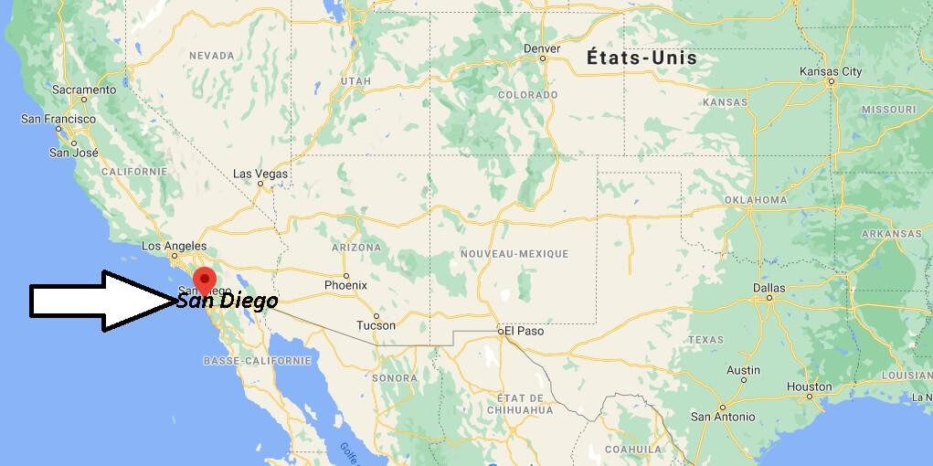 Où se trouve San Diego sur la carte du monde