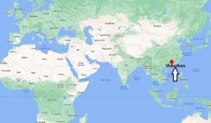 Où se trouve Shenzhen sur la carte du monde