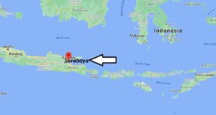 Où se trouve Surabaya