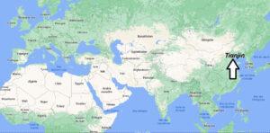 Où se trouve Tianjin sur la carte du monde