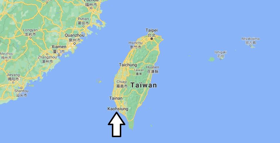 Où se trouve la ville de Kaohsiung