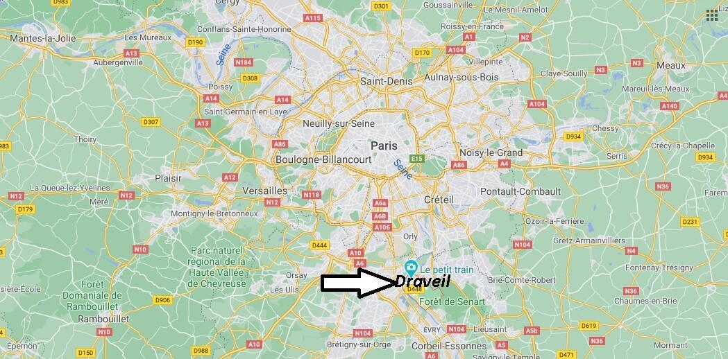 Où se situe Draveil