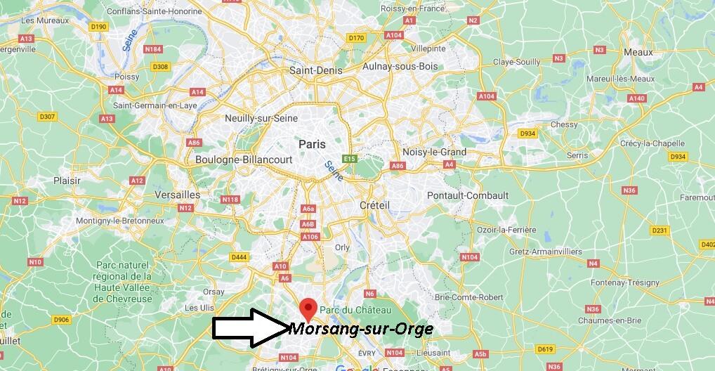 Où se situe Morsang-sur-Orge