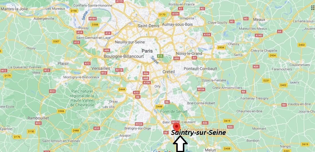 Où se situe Saintry-sur-Seine