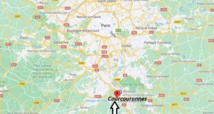 Où se trouve Courcouronnes