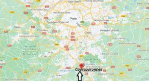 Où se trouve Courcouronnes sur la carte du monde
