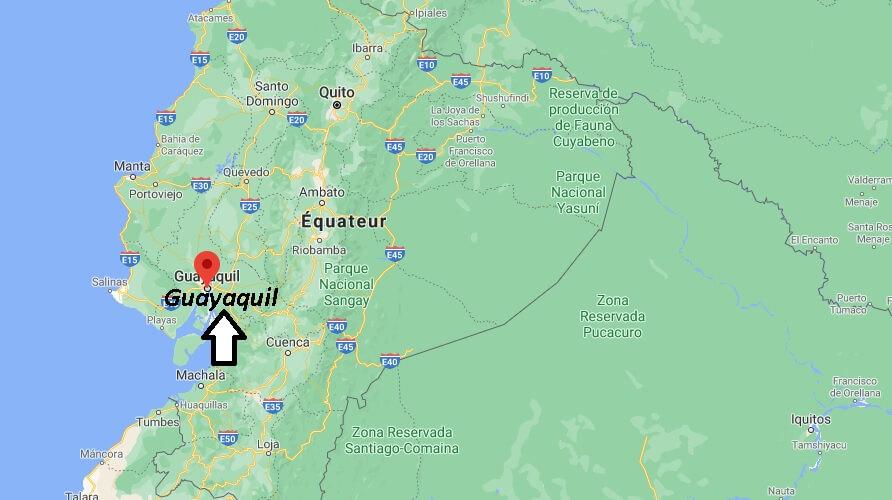Où se trouve Guayaquil sur la carte du monde