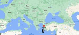 Où se trouve Izmir sur la carte du monde