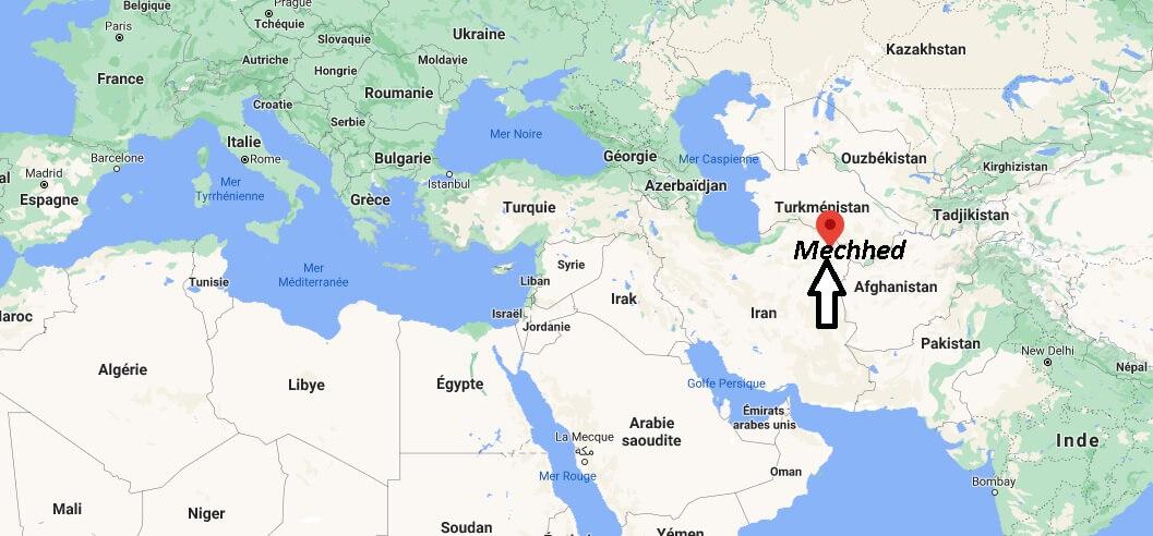Où se trouve Mechhed sur la carte du monde