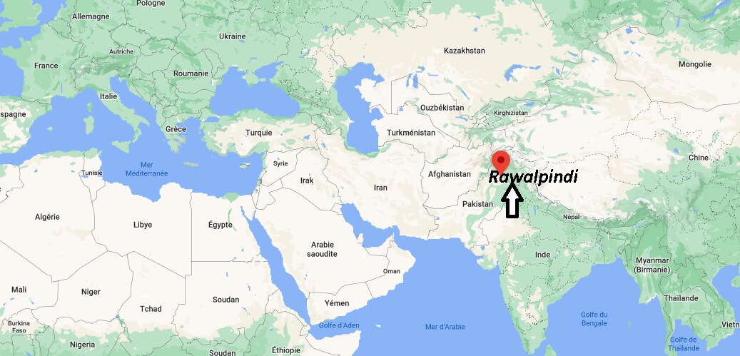 Où se trouve Rawalpindi sur la carte du monde