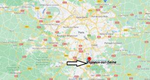 Où se trouve Vigneux-sur-Seine sur la carte du monde
