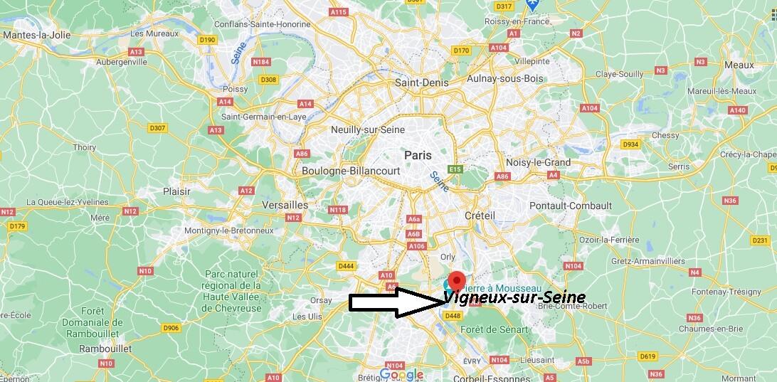 Où se trouve Vigneux-sur-Seine